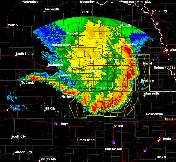 Radar Image for Severe Thunderstorms near Wymore, NE at 7/9/2020 1:04 AM CDT