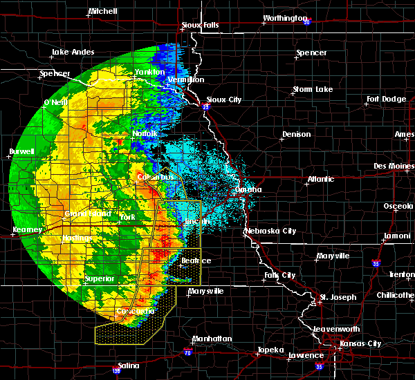 Radar Image for Severe Thunderstorms near North Bend, NE at 7/9/2020 1:07 AM CDT