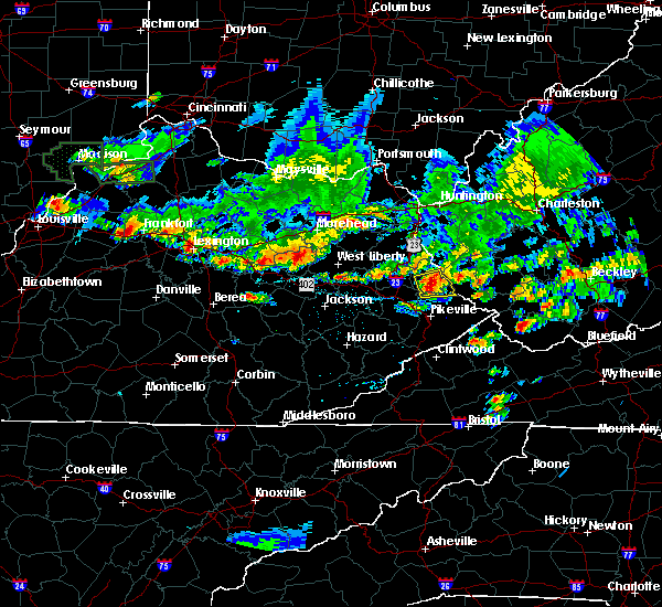 Radar Image for Severe Thunderstorms near Warfield, KY at 6/30/2015 7:39 PM EDT