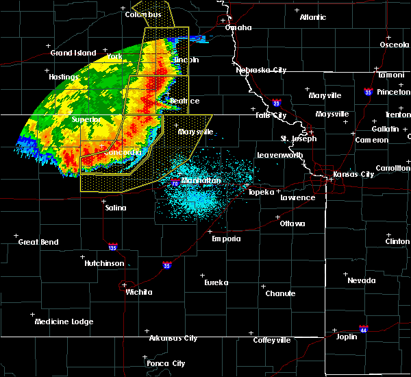 Radar Image for Severe Thunderstorms near Oketo, KS at 7/9/2020 1:10 AM CDT