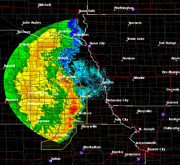 Radar Image for Severe Thunderstorms near Syracuse, NE at 7/9/2020 1:13 AM CDT