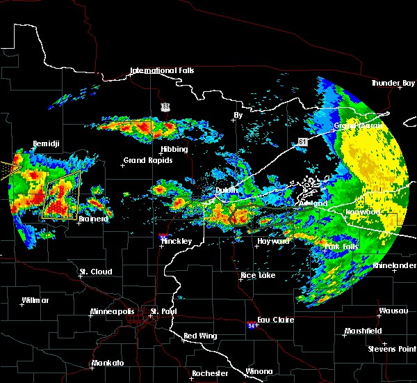 Radar Image for Severe Thunderstorms near Breezy Point, MN at 7/9/2020 1:19 AM CDT
