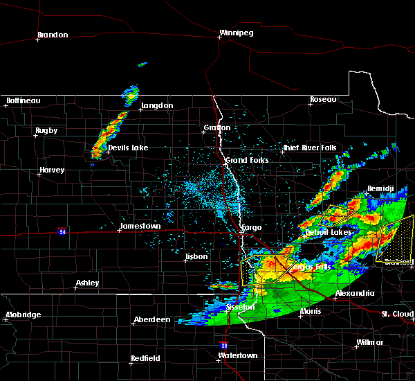 Radar Image for Severe Thunderstorms near Kent, MN at 7/9/2020 1:23 AM CDT