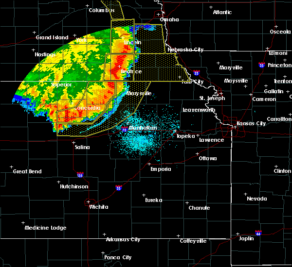 Radar Image for Severe Thunderstorms near Miltonvale, KS at 7/9/2020 1:25 AM CDT