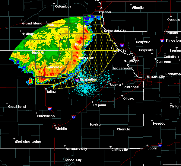 Radar Image for Severe Thunderstorms near Manchester, KS at 7/9/2020 1:38 AM CDT