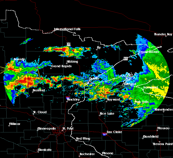 Radar Image for Severe Thunderstorms near Breezy Point, MN at 7/9/2020 1:38 AM CDT