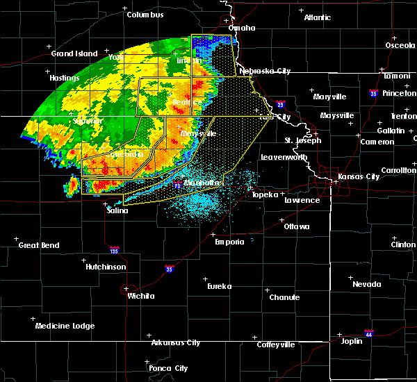 Radar Image for Severe Thunderstorms near Oketo, KS at 7/9/2020 1:45 AM CDT