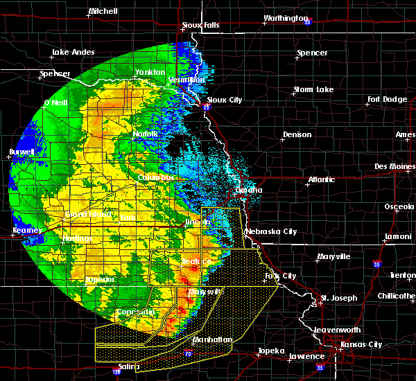 Radar Image for Severe Thunderstorms near Pawnee City, NE at 7/9/2020 1:46 AM CDT