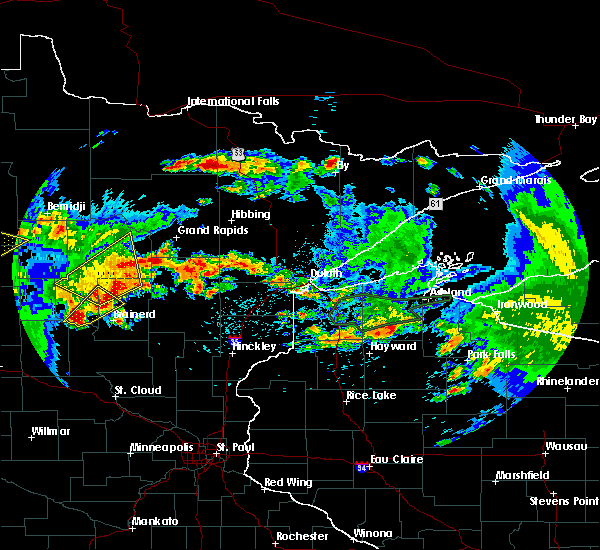 Radar Image for Severe Thunderstorms near Merrifield, MN at 7/9/2020 1:58 AM CDT
