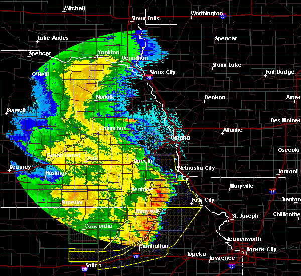 Radar Image for Severe Thunderstorms near Syracuse, NE at 7/9/2020 2:08 AM CDT