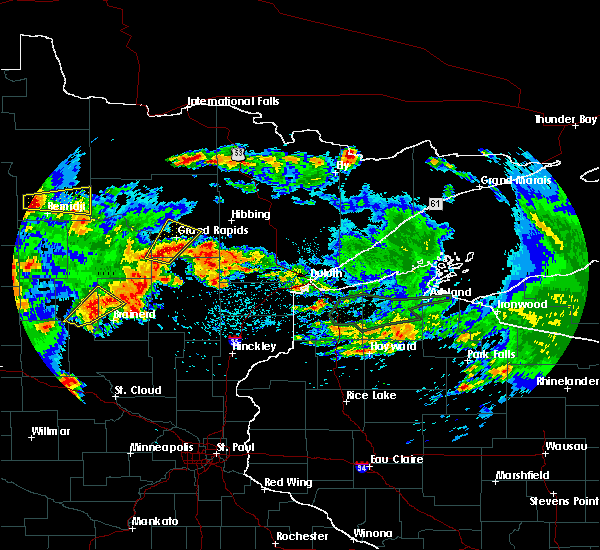 Radar Image for Severe Thunderstorms near Merrifield, MN at 7/9/2020 2:12 AM CDT