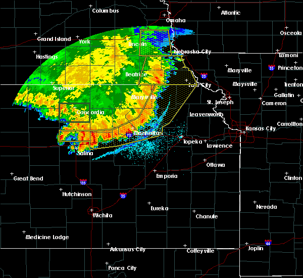 Radar Image for Severe Thunderstorms near Denison, KS at 7/9/2020 2:12 AM CDT