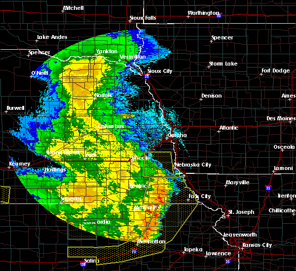 Radar Image for Severe Thunderstorms near Pawnee City, NE at 7/9/2020 2:15 AM CDT