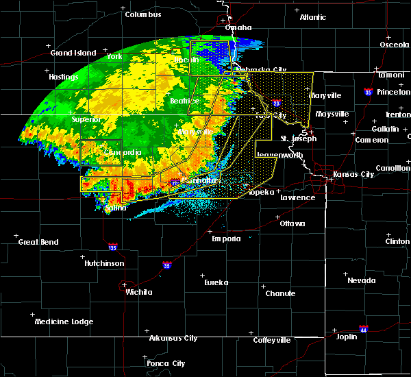 Radar Image for Severe Thunderstorms near Havensville, KS at 7/9/2020 2:16 AM CDT