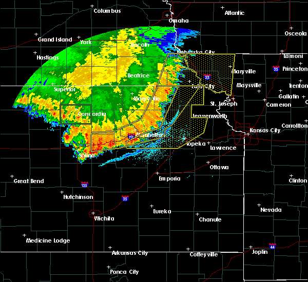 Radar Image for Severe Thunderstorms near Havensville, KS at 7/9/2020 2:25 AM CDT