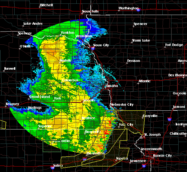 Radar Image for Severe Thunderstorms near Pawnee City, NE at 7/9/2020 2:26 AM CDT