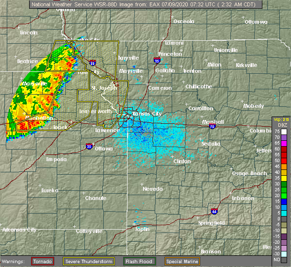 Radar Image for Severe Thunderstorms near Huron, KS at 7/9/2020 2:33 AM CDT