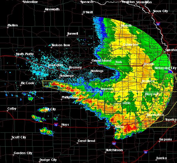 Radar Image for Severe Thunderstorms near Orleans, NE at 7/9/2020 2:36 AM CDT