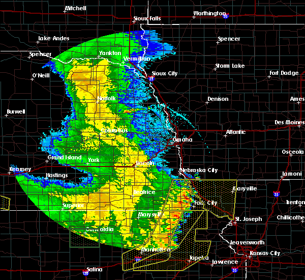 Radar Image for Severe Thunderstorms near Peru, NE at 7/9/2020 2:36 AM CDT