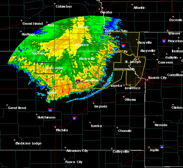 Radar Image for Severe Thunderstorms near Denison, KS at 7/9/2020 2:44 AM CDT