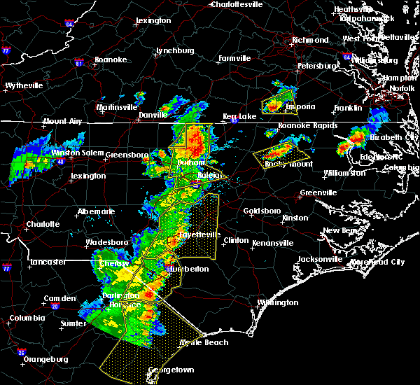 Radar Image for Severe Thunderstorms near Oxford, NC at 6/30/2015 7:46 PM EDT
