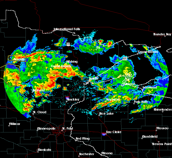 Radar Image for Severe Thunderstorms near Ironton, MN at 7/9/2020 2:45 AM CDT