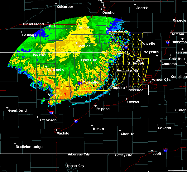 Radar Image for Severe Thunderstorms near Lehigh, KS at 7/9/2020 2:48 AM CDT