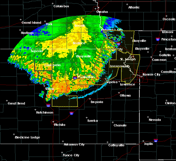 Radar Image for Severe Thunderstorms near Barada, NE at 7/9/2020 2:54 AM CDT