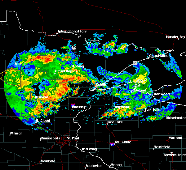 Radar Image for Severe Thunderstorms near Aitkin, MN at 7/9/2020 3:01 AM CDT