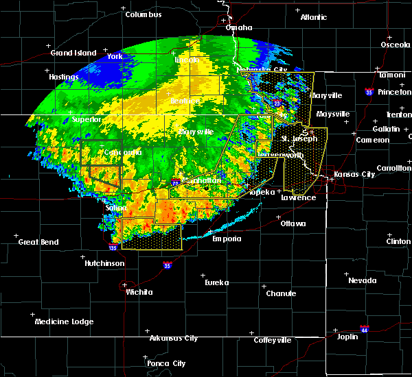 Radar Image for Severe Thunderstorms near Denison, KS at 7/9/2020 3:10 AM CDT