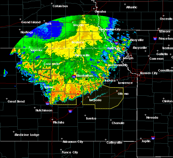 Radar Image for Severe Thunderstorms near Bushong, KS at 7/9/2020 3:19 AM CDT