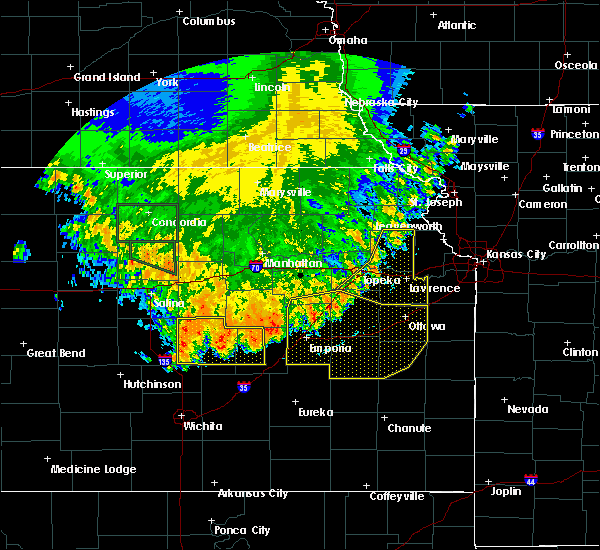 Radar Image for Severe Thunderstorms near Lehigh, KS at 7/9/2020 3:26 AM CDT