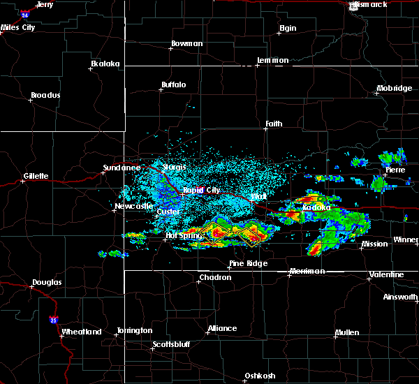 Radar Image for Severe Thunderstorms near Kyle, SD at 7/9/2020 3:04 AM MDT
