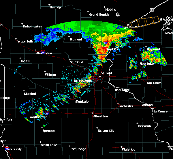 Radar Image for Severe Thunderstorms near Shakopee, MN at 7/9/2020 4:26 AM CDT