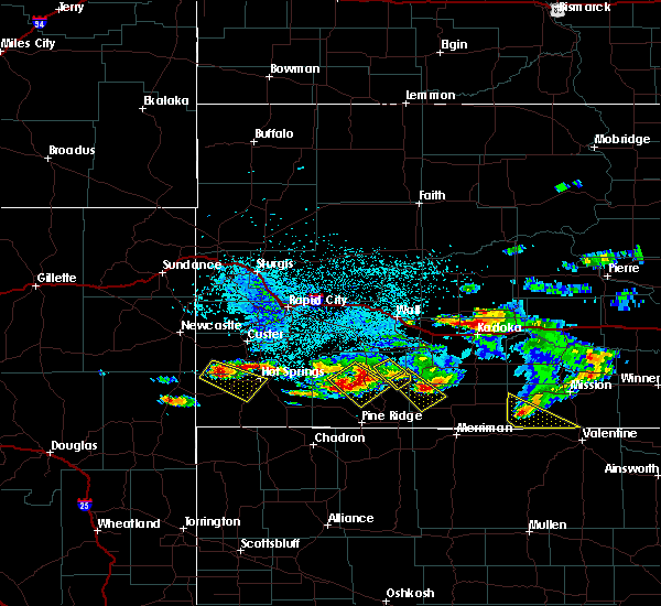 Radar Image for Severe Thunderstorms near Kyle, SD at 7/9/2020 3:29 AM MDT