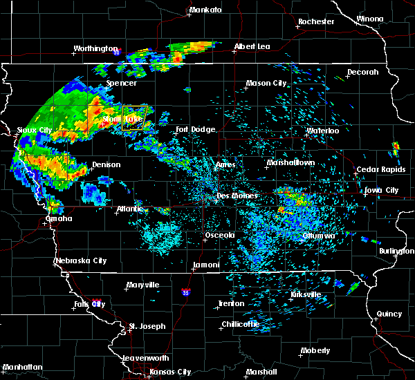 Radar Image for Severe Thunderstorms near Havelock, IA at 7/9/2020 8:43 AM CDT