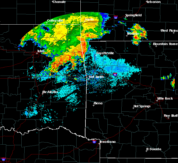 Radar Image for Severe Thunderstorms near Rogers, AR at 7/9/2020 9:47 AM CDT