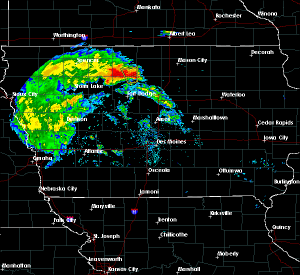 Radar Image for Severe Thunderstorms near Livermore, IA at 7/9/2020 10:15 AM CDT