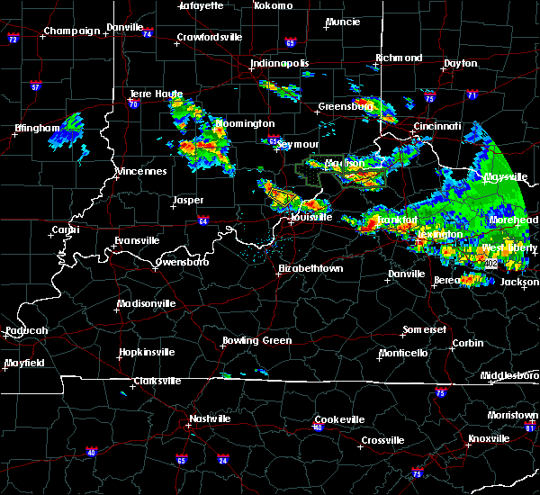Radar Image for Severe Thunderstorms near Henryville, IN at 6/30/2015 7:48 PM EDT