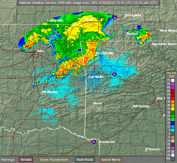 Radar Image for Severe Thunderstorms near Long, OK at 7/9/2020 10:21 AM CDT