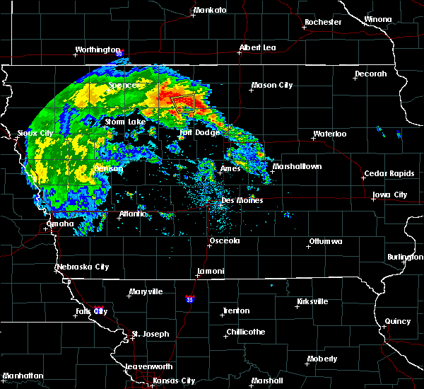 Radar Image for Severe Thunderstorms near Lu Verne, IA at 7/9/2020 10:32 AM CDT