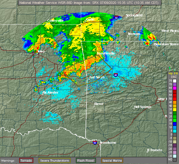 Radar Image for Severe Thunderstorms near Long, OK at 7/9/2020 10:38 AM CDT