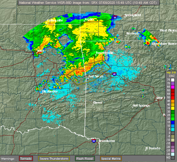 Radar Image for Severe Thunderstorms near Long, OK at 7/9/2020 10:51 AM CDT