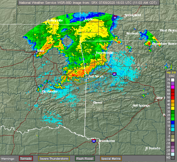 Radar Image for Severe Thunderstorms near Long, OK at 7/9/2020 11:05 AM CDT