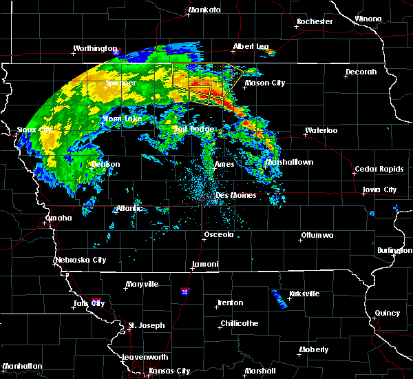 Radar Image for Severe Thunderstorms near Grafton, IA at 7/9/2020 11:14 AM CDT