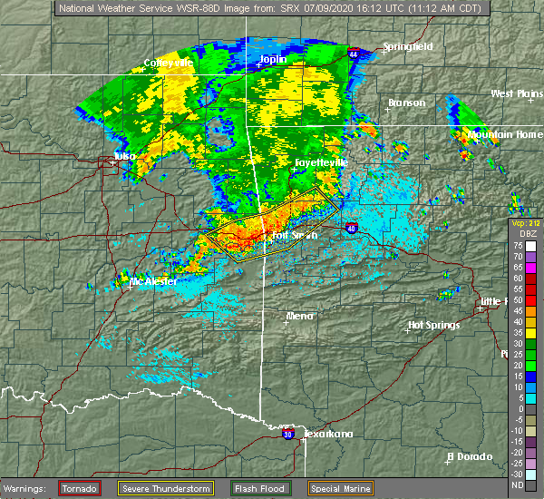 Radar Image for Severe Thunderstorms near Ratcliff, AR at 7/9/2020 11:17 AM CDT
