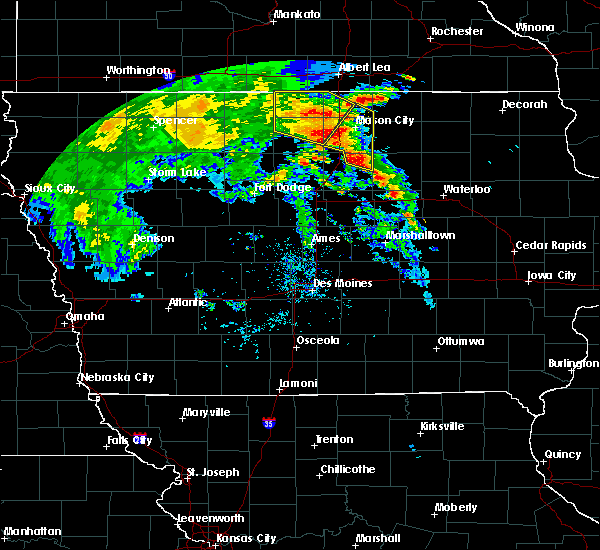 Radar Image for Severe Thunderstorms near Lake Mills, IA at 7/9/2020 11:45 AM CDT