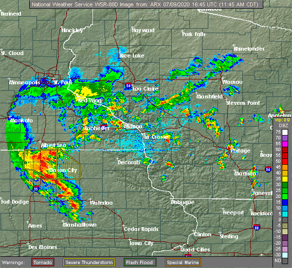 Radar Image for Severe Thunderstorms near Rudd, IA at 7/9/2020 11:51 AM CDT