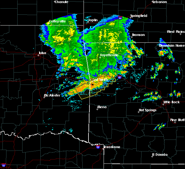 Radar Image for Severe Thunderstorms near Ratcliff, AR at 7/9/2020 11:54 AM CDT