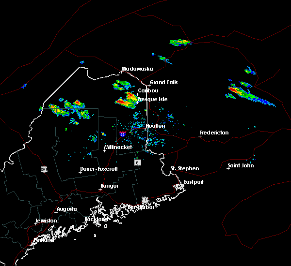 Radar Image for Severe Thunderstorms near Fort Fairfield, ME at 7/9/2020 12:59 PM EDT